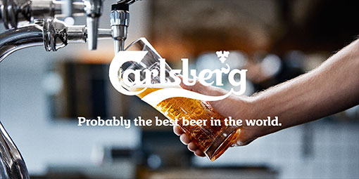 Carlsberg Probably the best beer in the world.